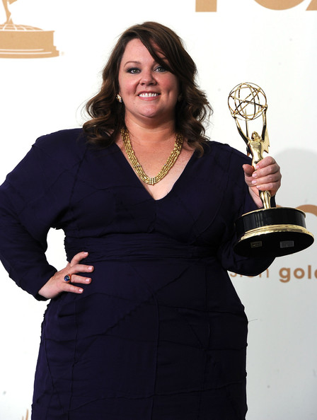 Actress Melissa McCarthy of Mike & Molly poses in the press room after winning outstanding lead actress in a comedy series 2011 during the 63rd Annual Primetime Emmy Awards held at Nokia Theatre L.A. LIVE on September 18, 2011 in Los Angeles, California.