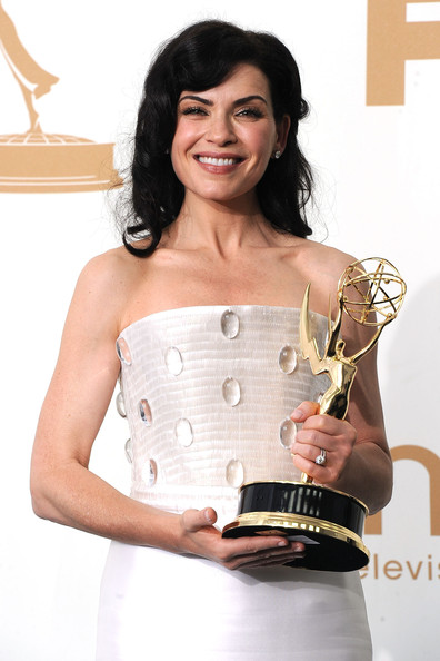 Actress Julianna Margulies of 'The Good Wife' poses in the press room after winning Outstanding Lead Actress in a Drama Series during the 63rd Annual Primetime Emmy Awards held at Nokia Theatre L.A. LIVE on September 18, 2011 in Los Angeles, California.