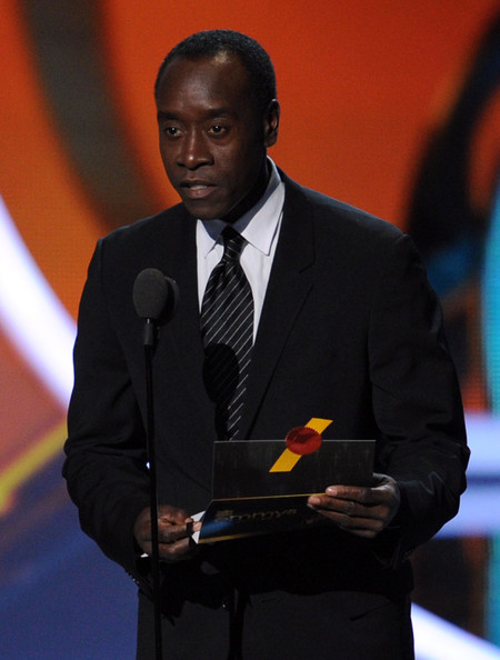Actor Don Cheadle speaks onstage during the 63rd Annual Primetime Emmy Awards held at Nokia Theatre L.A. LIVE on September 18, 2011 in Los Angeles, California.