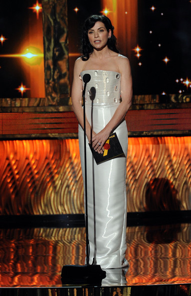 Actress Julianna Margulies speaks onstage during the 63rd Annual Primetime Emmy Awards held at Nokia Theatre L.A. LIVE on September 18, 2011 in Los Angeles, California.