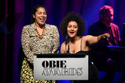 Jackie Sibblies Drury.and Lileana Blain Cruz speak onstage during the 64th Annual Obie Awards on May 20, 2019 in New York City.