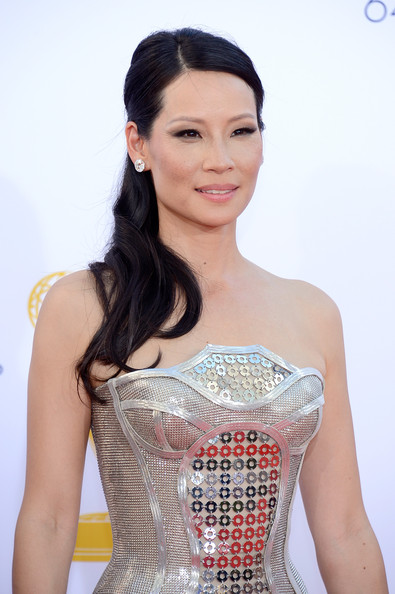 Actress Lucy Liu arrives at the 64th Annual Primetime Emmy Awards at Nokia Theatre L.A. Live on September 23, 2012 in Los Angeles, California.