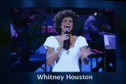 Singer Whitney Houston is featured in the In Memoriam tribute during the 64th Annual Primetime Emmy Awards at Nokia Theatre L.A. Live on September 23, 2012 in Los Angeles, California.