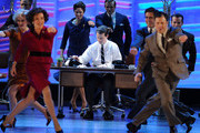 Sean Hayes (C) performs with the cast of Promises Promises onstage during the 64th Annual Tony Awards at Radio City Music Hall on June 13, 2010 in New York City.
