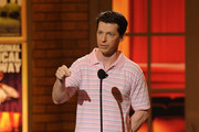Host Sean Hayes speaks onstage during the 64th Annual Tony Awards at Radio City Music Hall on June 13, 2010 in New York City.