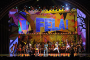 The cast of Fela performs onstage during the 64th Annual Tony Awards at Radio City Music Hall on June 13, 2010 in New York City.