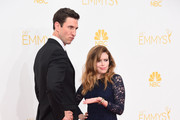 Actors Pablo Schreiber (L) and Natasha Lyonne attend the 66th Annual Primetime Emmy Awards held at Nokia Theatre L.A. Live on August 25, 2014 in Los Angeles, California.