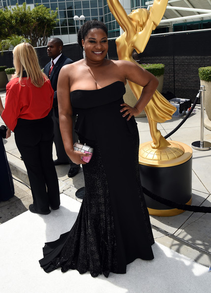 Actress Adrienne C. Moore attends the 66th Annual Primetime Emmy Awards held at Nokia Theatre L.A. Live on August 25, 2014 in Los Angeles, California.