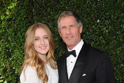 Chief Executive Officer of Lions Gate Entertainment, Jon Feltheimer and his daughter Maya attend the 66th Annual Primetime Emmy Awards held at the Nokia Theatre L.A. Live on August 25, 2014 in Los Angeles, California.