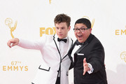 Actors Nolan Gould and Rico Rodriguez attend the 67th Annual Primetime Emmy Awards at Microsoft Theater on September 20, 2015 in Los Angeles, California.