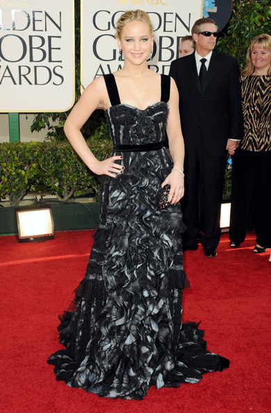 Actress Jennifer Lawrence arrives at the 68th Annual Golden Globe Awards held at The Beverly Hilton hotel on January 16, 2011 in Beverly Hills, California.