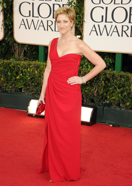 Actress Edie Falco arrives at the 68th Annual Golden Globe Awards held at The Beverly Hilton hotel on January 16, 2011 in Beverly Hills, California.