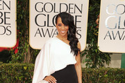 TV personality Shaun Robinson arrives at the 69th Annual Golden Globe Awards held at the Beverly Hilton Hotel on January 15, 2012 in Beverly Hills, California.