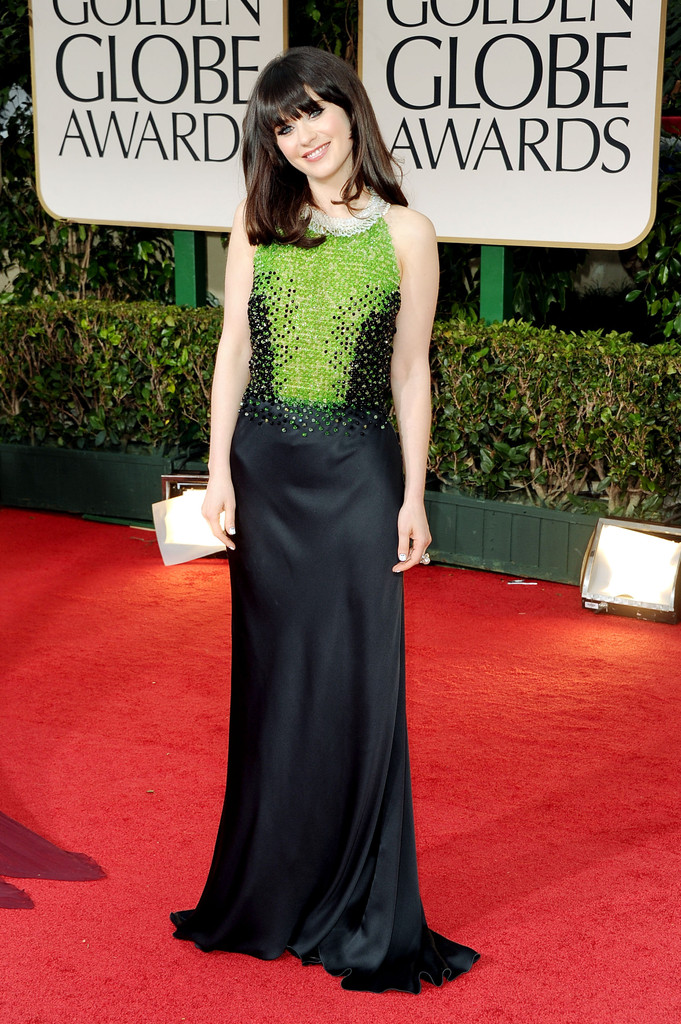 Zooey+Deschanel in 69th Annual Golden Globe Awards - Arrivals