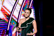 Actress Sadie Robertson speaks onstage during the 6th Annual KLOVE Fan Awards at The Grand Ole Opry on May 27, 2018 in Nashville, Tennessee.