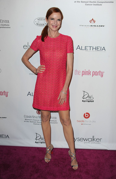 Actress Marcia Cross arrives at the 6th Annual Pink Party at Drai's at the W Hollywood on September 25 2010 in Hollywood, California.