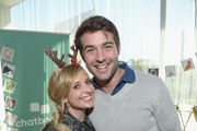 Actress Sarah Michelle Gellar (L) and actor James Wolk attend 6th Annual Santa's Secret Workshop benefitting L.A. Family Housing at Andaz on December 3, 2016 in West Hollywood, California.