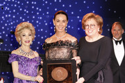 Margaret Alkek Williams, Sue Smith and Caryl Stern pose onstage at the 6th Annual UNICEF Gala Houston 2019 at The Post Oak Houston on May 03, 2019 in Houston, Texas.