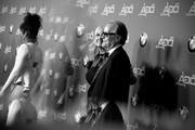 Image has been converted to black and white. Color version available.) Actor Peter Fonda (L) and Margaret DeVogelaere attend the 70th Annual Directors Guild Of America Awards at The Beverly Hilton Hotel on February 3, 2018 in Beverly Hills, California.
