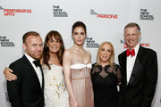 (L-R) Burak Cakmak, Julie Gilhart, Hilary Rhoda, Susan Rockefeller, and David Van Zandt attend the 70th Annual Parsons Benefit on May 21, 2018 in New York City.
