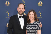 Nick Grad, President, Original Programming FX Networks and FX Productions (L) and Carolyn Bernstein, EVP, Scripted Programming, Nat Geo attend the 70th Emmy Awards at Microsoft Theater on September 17, 2018 in Los Angeles, California.