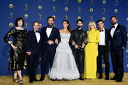Cast of Outstanding Limited Series winners 'The Assassination of Gianni Versace: American Crime Story' pose in the press room during the 70th Emmy Awards at Microsoft Theater on September 17, 2018 in Los Angeles, California.