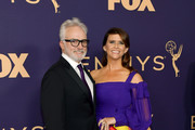 Bradley Whitford (L) and Amy Landecker attend the 71st Emmy Awards at Microsoft Theater on September 22, 2019 in Los Angeles, California.