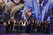 Lorne Michaels and cast and crew of 'Saturday Night Live' accept the Outstanding Variety Sketch Series award for 'Saturday Night Live' onstage during the 71st Emmy Awards at Microsoft Theater on September 22, 2019 in Los Angeles, California.