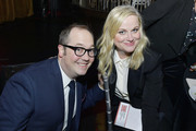 John Lutz and Amy Poehler attend the 72nd Writers Guild Awards at Edison Ballroom on February 01, 2020 in New York City.