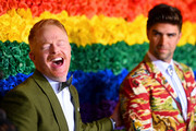 Jesse Tyler Ferguson and Justin Mikita attend the 73rd Annual Tony Awards at Radio City Music Hall on June 09, 2019 in New York City.