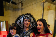 (L-R) Micaela Diamond, Stephanie J. Block, and Teal Wicks pose backstage during the 73rd Annual Tony Awards at Radio City Music Hall on June 09, 2019 in New York City.