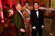 Jesse Tyler Ferguson, Justin Mikita, and Aaron Tveit attend the 73rd Annual Tony Awards Gala After Party at The Plaza Hotel on June 09, 2019 in New York City. (Photo by Bryan Bedder/Getty Images for Tony Awards Productions