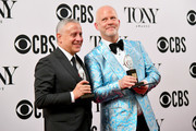 "(L-R) David Stone and Ryan Murphy, winners of the award for Best Revival of a Play for ""The Boys in the Band,"" poses in the press room for the 73rd Annual Tony Awards at 3 West Club on June 9, 2019 in New York City."