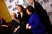 (L-R) American Theatre Wing President and CEO Heather Hitchens, The Broadway League Chairman Thomas Schumacher, Stephanie J. Block, William Ivey Long, and The Broadway League President and CEO Charlotte St. Martin attend The 73rd Annual Tony Awards Meet The Nominees Press Day on May 01, 2019 in New York City.