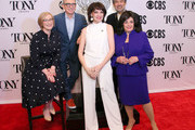 (L-R) American Theatre Wing President and CEO Heather Hitchens, The Broadway League Chairman Thomas Schumacher, Beth Leavel, William Ivey Long, and The Broadway League President and CEO Charlotte St. Martin attend The 73rd Annual Tony Awards Meet The Nominees Press Day on May 01, 2019 in New York City.