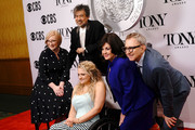 (L-R) American Theatre Wing President and CEO Heather Hitchens, The Broadway League Chairman Thomas Schumacher, Ali Stroker, William Ivey Long, and The Broadway League President and CEO Charlotte St. Martin attend The 73rd Annual Tony Awards Meet The Nominees Press Day on May 01, 2019 in New York City.