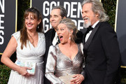 (L-R) Wendy Treece Bridges, Beau Bridges, Susan Geston, and Jeff Bridges attend the 76th Annual Golden Globe Awards at The Beverly Hilton Hotel on January 6, 2019 in Beverly Hills, California.