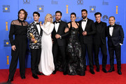 Outstanding Limited Series award for 'The Assassination of Gianni Versace: American Crime Story' winners, (L-R) Cody Fern, Darren Criss, Judith Light, Edgar Ramirez, Penelope Cruz, Ricky Martin, Finn Wittrock, and Jon Jon Briones pose in the press room during the 76th Annual Golden Globe Awards at The Beverly Hilton Hotel on January 6, 2019 in Beverly Hills, California.