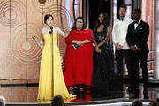 "In this handout photo provided by NBCUniversal, .Rachel Brosnahan from ""The Marvelous Mrs. Maisel"" accepts the Best Performance by an Actress in a Television Series – Musical or Comedy award onstage during the 76th Annual Golden Globe Awards at The Beverly Hilton Hotel on January 06, 2019 in Beverly Hills, California."