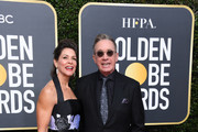 Jane Hajduk (L) and Tim Allen attend the 77th Annual Golden Globe Awards at The Beverly Hilton Hotel on January 05, 2020 in Beverly Hills, California.