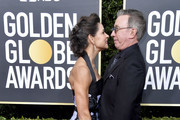 (L-R) Jane Hajduk and Tim Allen attend the 77th Annual Golden Globe Awards at The Beverly Hilton Hotel on January 05, 2020 in Beverly Hills, California.