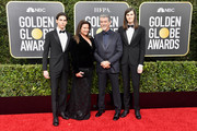 (L-R) Paris Brosnan, Keely Shaye Smith, Pierce Brosnan, and Dylan Brosnan attend the 77th Annual Golden Globe Awards at The Beverly Hilton Hotel on January 05, 2020 in Beverly Hills, California.