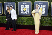 (L-R) Nicole Kimpel, Antonio Banderas, and Cate Blanchett attend the 77th Annual Golden Globe Awards at The Beverly Hilton Hotel on January 05, 2020 in Beverly Hills, California.