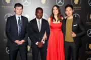 (L-R) Mike Schur, William Jackson Harper, D'Arcy Carden and Manny Jacinto attend the 78th Annual Peabody Awards Ceremony Sponsored By Mercedes-Benz at Cipriani Wall Street on May 18, 2019 in New York City.