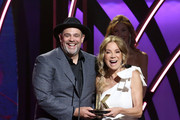 Rabbi Jason Sobel accepts an award on stage from Kathie Lee Gifford during the 7th Annual K-LOVE Fan Awards at The Grand Ole Opry House on June 2, 2019 in Nashville, Tennessee.