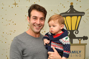James Wolk (L) and son Charlie at the 7th Annual Santa's Secret Workshop benefiting LA Family Housing at Andaz on December 2, 2017 in West Hollywood, California.