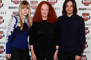 (L-R) Amy Astley, Grace Coddington and Designer Olivier Theyskens attend Teen Vogue Fashion University at the Hudson Theatre on October 20, 2012 in New York City.