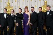 Actors (L-R) Matthew Broderick, Macaulay Culkin, Ally Sheedy, Molly Ringwald, Judd Nelson, Jon Cryer and Anthony Michael Hall, who presented a tribute to late director John Hughes, pose in the press room at the 82nd Annual Academy Awards held at Kodak Theatre on March 7, 2010 in Hollywood, California.