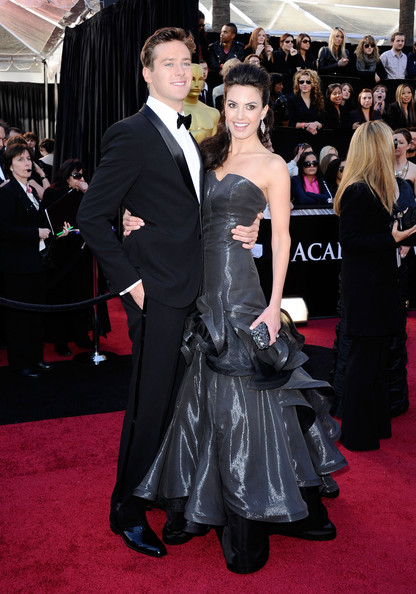 Actor Armie Hammer (L) and actress Elizabeth Chambers arrive at the 83rd Annual Academy Awards held at the Kodak Theatre on February 27, 2011 in Hollywood, California.