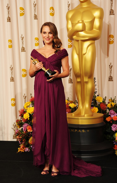 Actress Natalie Portman, winner of the award for Best Actress in a Leading Role for 'Black Swan', poses in the press room during the 83rd Annual Academy Awards held at the Kodak Theatre on February 27, 2011 in Hollywood, California.